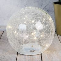 Hestia Clear Crackle Light Up Ball 14.5cm