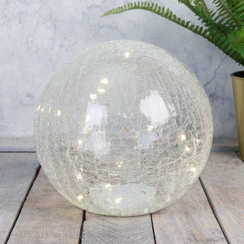 Image of � Clear Crackle Light Up Ball 19cm - Hestia