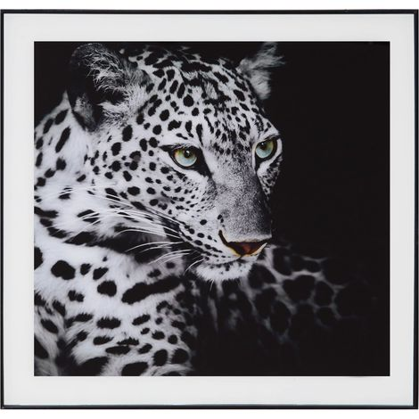 Hestia Framed Glass Wall Art - Leopard