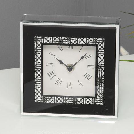 Hestia Glass Mirror Clock