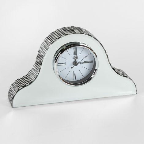 HESTIA� Glass Mirror Napoleon Mantel Clock