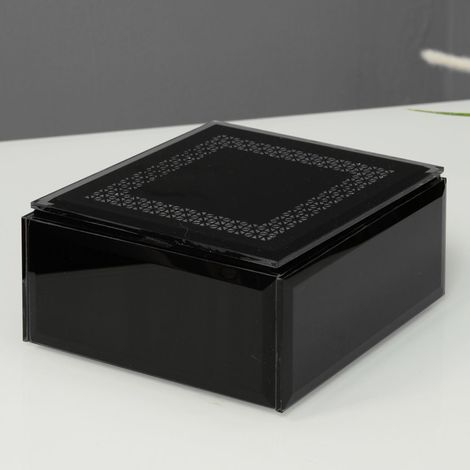 Hestia Glass Mirror Trinket Box