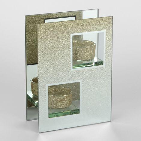 Hestia Gold Double Tealight Holder