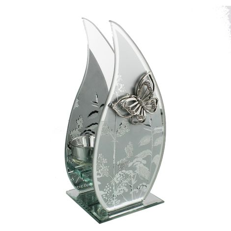 Hestia Mirror Frosted Butterfly Flame TLite Holder (4/6/12)