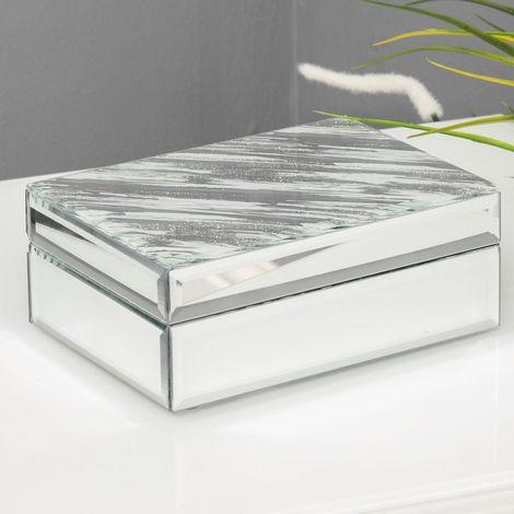 Hestia Mirror Glass Abstract Jewellery Box