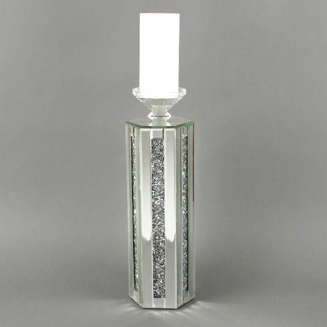 Hestia Mirror Glass Candle Holder 42cm