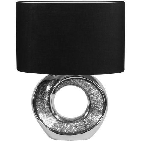 Table Lamp Light Chrome Efect Base