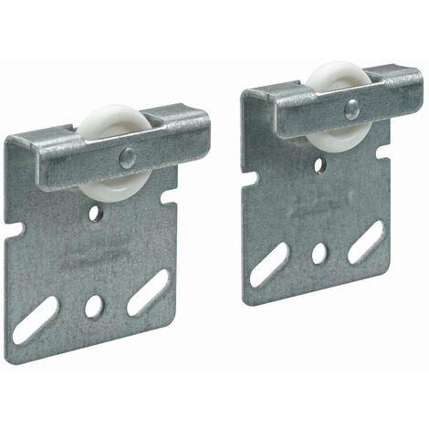 Hettich Ersatzlaufteil für Doppellaufprofil TopLine 2 Stahl, verzinkt, 2 Stück