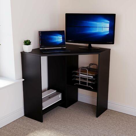Hetton Corner Computer Desk, Black
