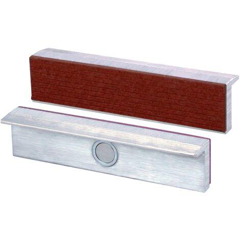 Heuer Mors de protection pour étau pour largeur de 120mm avec revêtement de fibres et fixation magnétique, 111120