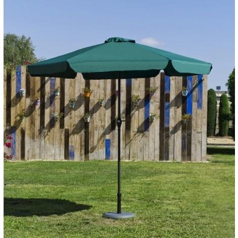 Hevea - Parasol rond 300 cm en toile verte - ACAS30