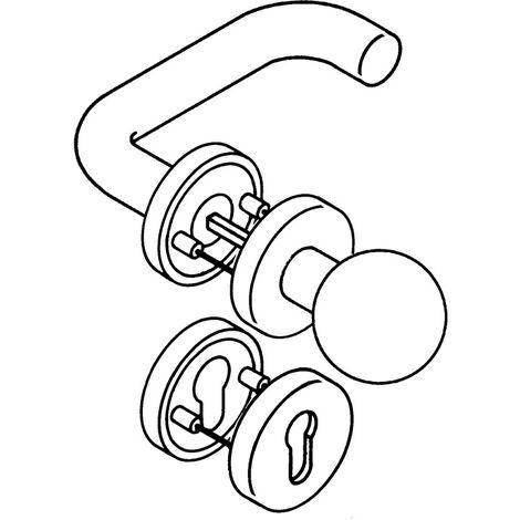 HEWI 111R03.133 90 Rosettengarnitur 111R03.133 Kunststoff 90 rund PZ DIN links /