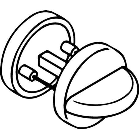 HEWI 306.23PBNR 92 Schlüsselrosetten-Paar 306.23PBNR 92 Kunststoff 92 Schildstär