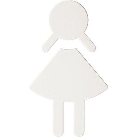 HEWI Symbol Damen Polyamid lichtgrau selbstklebend ohne Zapfen