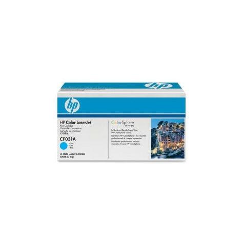 Hewlett Packard Accessoire Imprimante Laser LJ CM4540 MFP Toner Cartridge Cyan (CF031A)