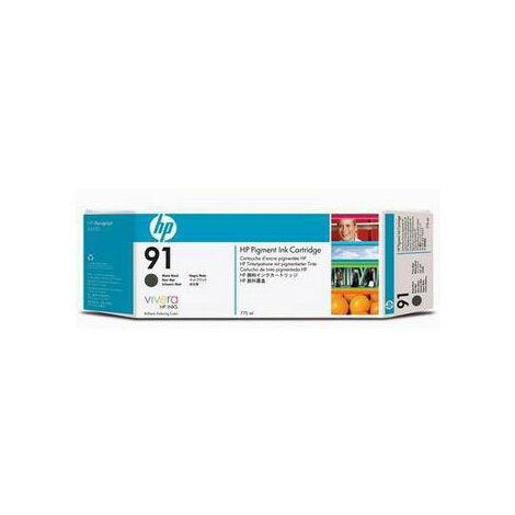 Hewlett Packard Cartouche d'encre Designjet Z6100 C9464A matte noir No. 91 775 ml (C9464A)
