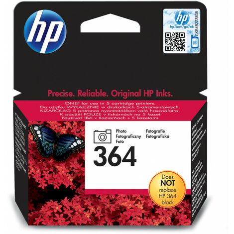 Hewlett Packard HP 364 original cartouche dencre photo noir capacite standard 3ml pack de 1 avec dencre Vivera (CB317EE#ABB)