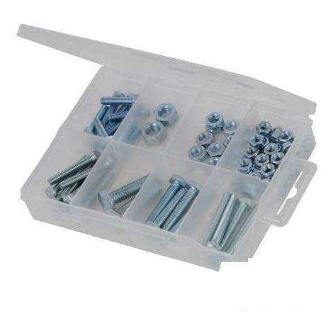 Hex Bolts & Nuts Pack - 75pce