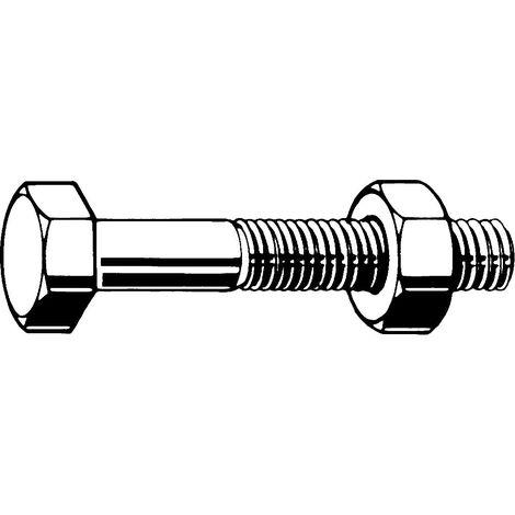 Hexagon head bolt with hexagon nut DIN 601/555 Steel Zinc plated 4.6