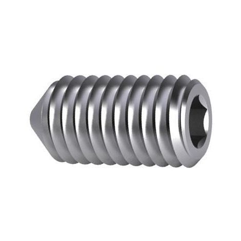 Hexagon socket set screw with cone point DIN 914 Steel Plain 45H
