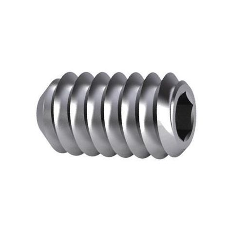 Hexagon socket set screw with cup point DIN 916 Stainless steel A2