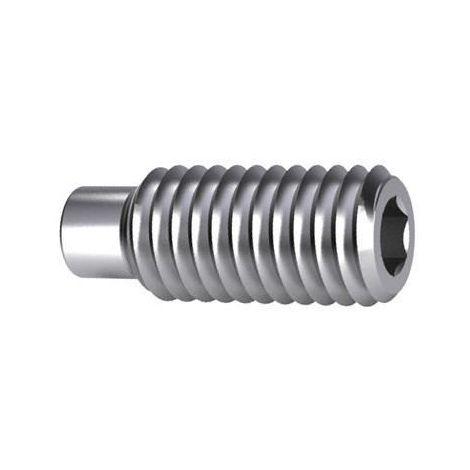 Hexagon socket set screw with dog point DIN 915 Steel Plain 45H