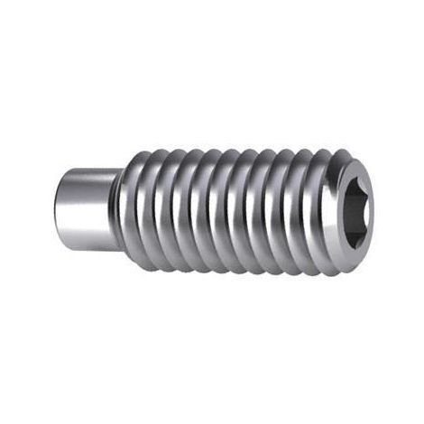 Hexagon socket set screw with dog point DIN 915 Steel Zinc plated 45H