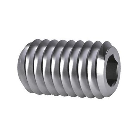 Hexagon socket set screw with flat end DIN 913 Stainless steel A4