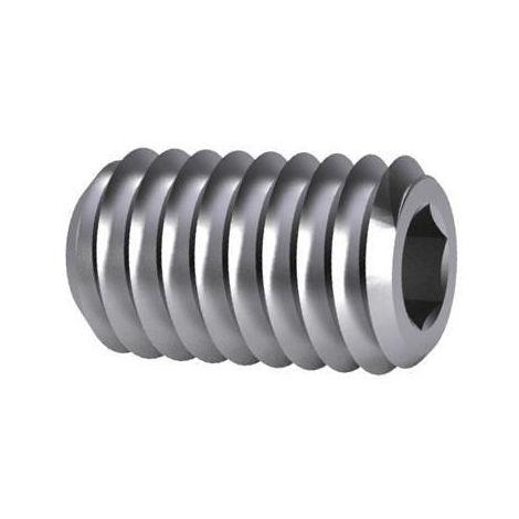 Hexagon socket set screw with flat end DIN 913 Steel Plain 45H