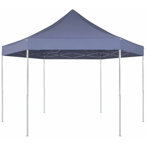 Hexagonal Pop-Up Foldable Marquee Dark Blue 3.6x3.1 m