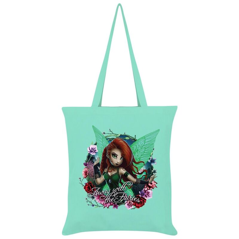 Image of Hexxie Away With The Fairies Saffron Tote Bag (One Size) (Mint Green)