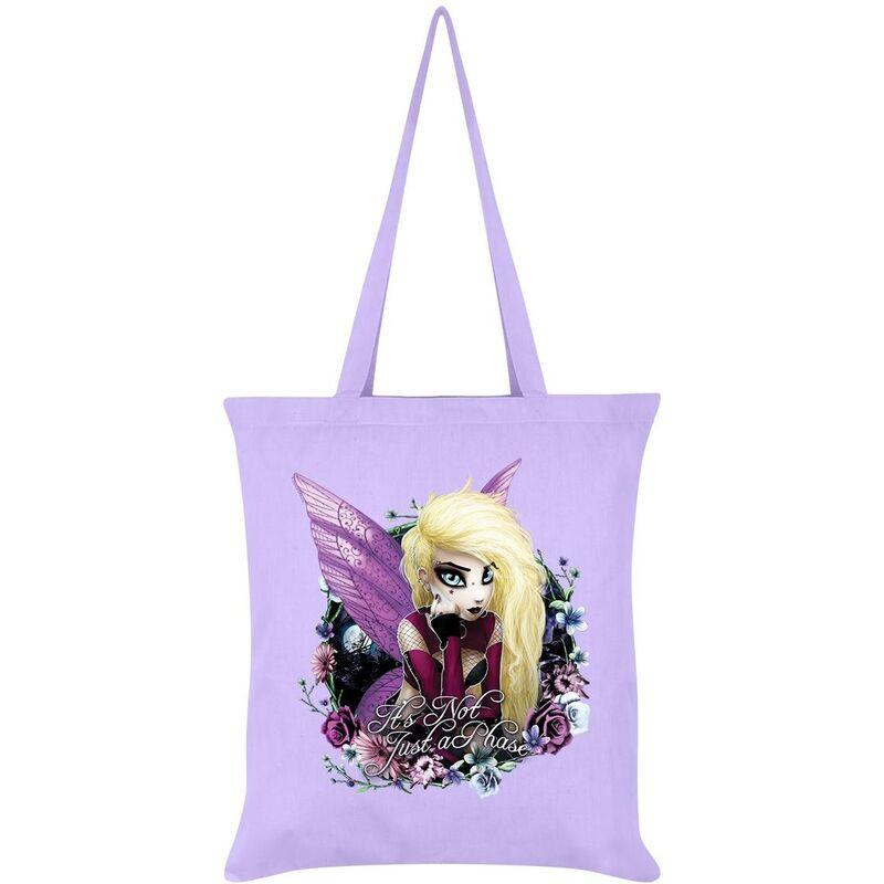 Image of Hexxie Its Not Just A Phase Izzy Tote Bag (One Size) (Lilac)