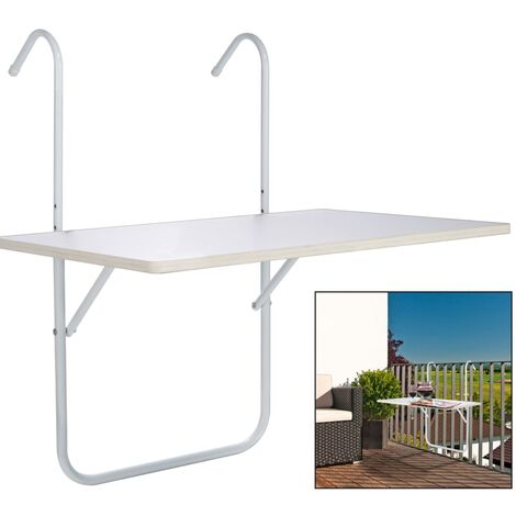 HI Balcony Folding Table White 60x40x1.2cm - White