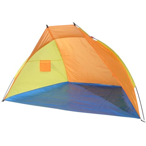 HI Beach Shelter Multicolour 220x115x115cm - Orange