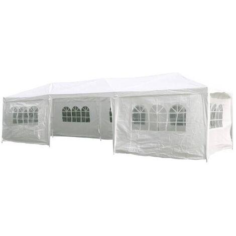 HI Carpa para fiestas con paredes laterales blanco 3x9 m