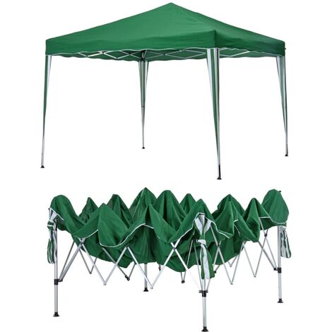 HI Carpa plegable 3x3 m verde