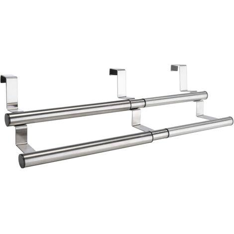 HI Extendable Dishcloth Hanger Silver - Silver