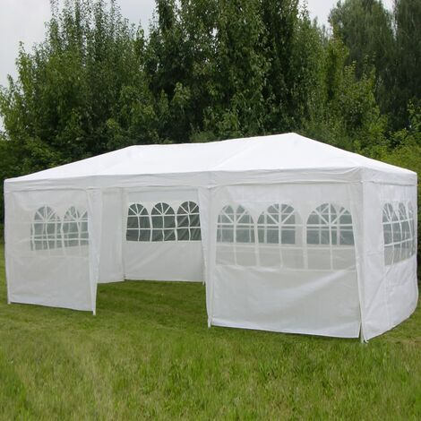 HI Gazebo with Sidewalls 3x6 m White