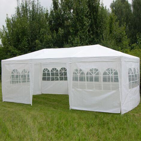 HI Gazebo with Sidewalls 3x6 m White - White
