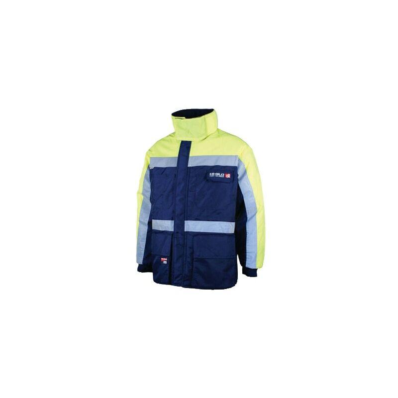Image of Goldfreeze Hi-glo 25 Jacket Navy/Yellow (XL)