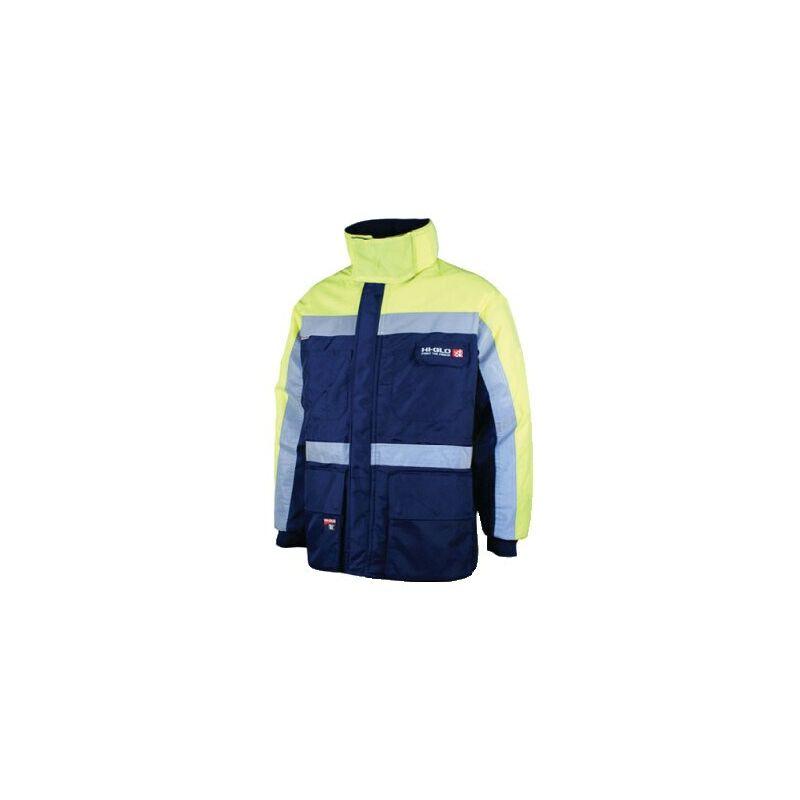 Image of Goldfreeze Hi-glo 40 Jacket Navy/Yellow (M)