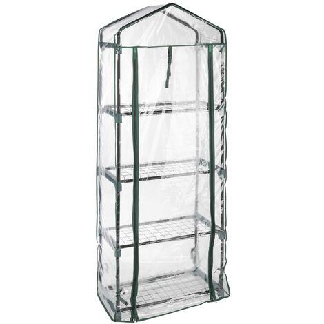 HI Invernadero con 4 estantes 59x31x160 cm