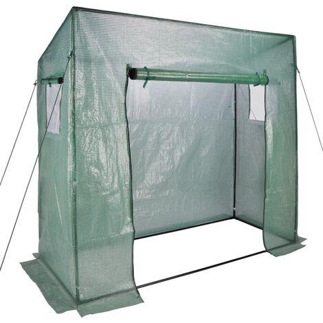 HI Invernadero verde 200x77x169/148 cm - Verde