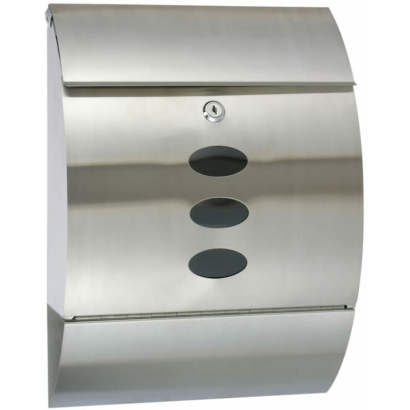 Image of Letter Box Stainless Steel 30x12x40 cm - Silver - HI