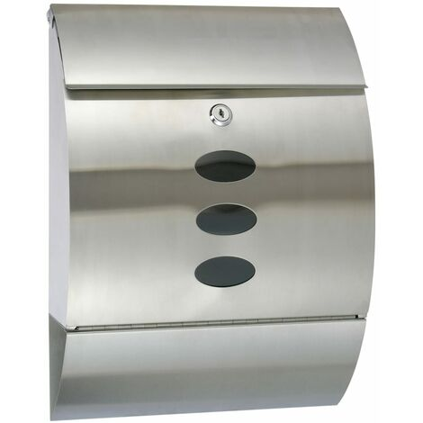 HI Letter Box Stainless Steel 30x12x40 cm