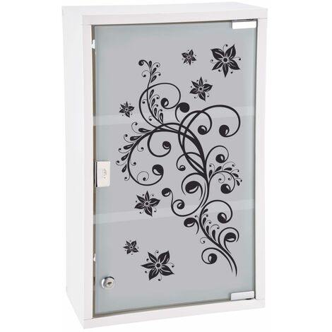"""main image of """"HI Medicine Cabinet 30x15x50 cm Stainless Steel - White"""""""