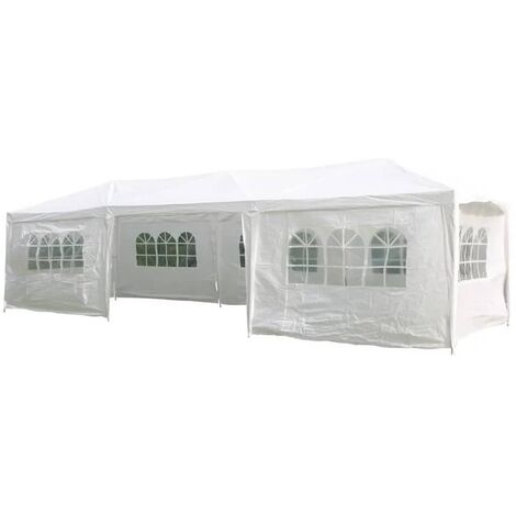 HI Partytent with Sidewalls 3x9m White - White