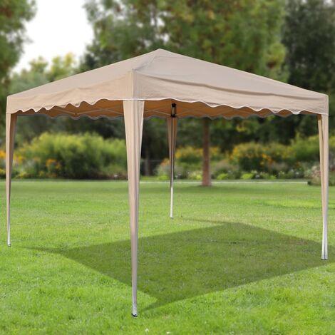 HI Pavillon pliable 3x3 m Beige