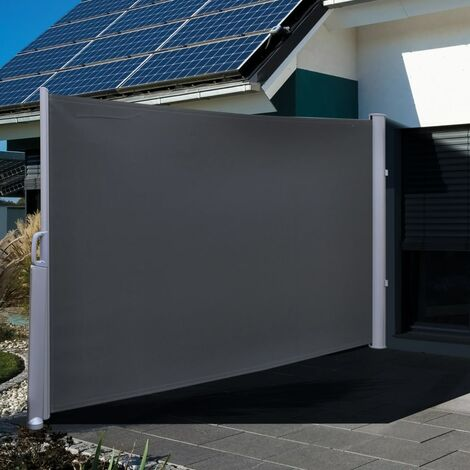 HI Privacy Screen 3x1.6 m Black Polyester