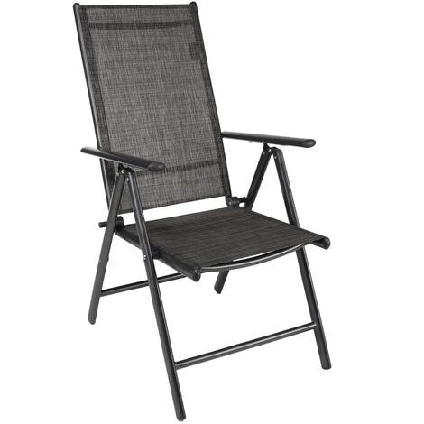 HI Reclining Garden Chair Aluminium Grey